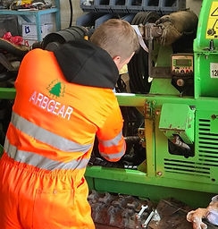 Arbgear greenmech safetrack woodchipper servicing