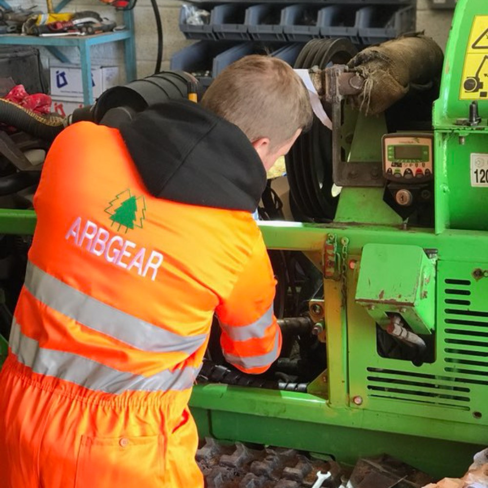 Greenmech Safetrack wood chipper service