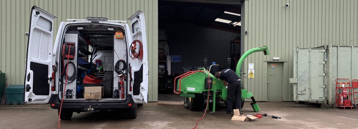 Greenmech PTO wood chipper service at Arbgear