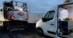Arbgear service van ECL JS145 engcon repair