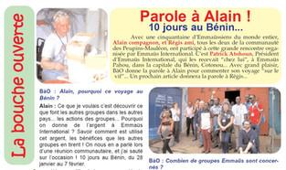 Solidarité : Chantier International au Bénin