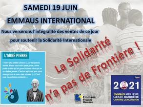 samedi 19 juin : la Solidarité n'a pas de frontière !