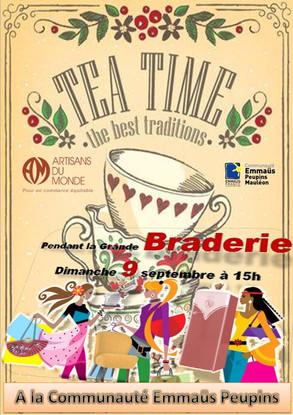 TEA TIME : dimanche 9 sept. à 15h