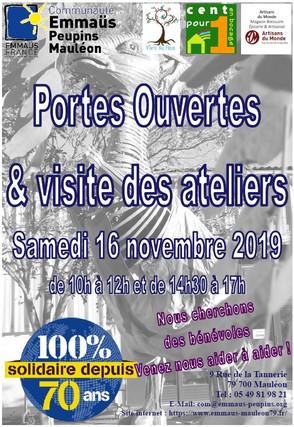 Portes Ouvertes : Samedi 16 novembre 2019