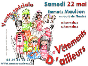 Samedi 22 mai : Vêtements d'Ailleurs ...