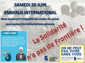 20 juin : la Solidarité n'a pas de frontière !