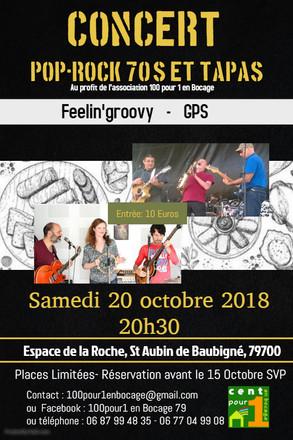 Concert pour Association 100 pour 1 en Bocage 79