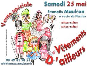 Samedi 25 mai : Vêtements d'Ailleurs ...