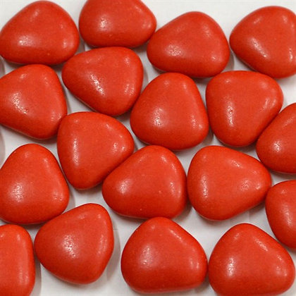 Сердечки драже красные 100г, Pellino