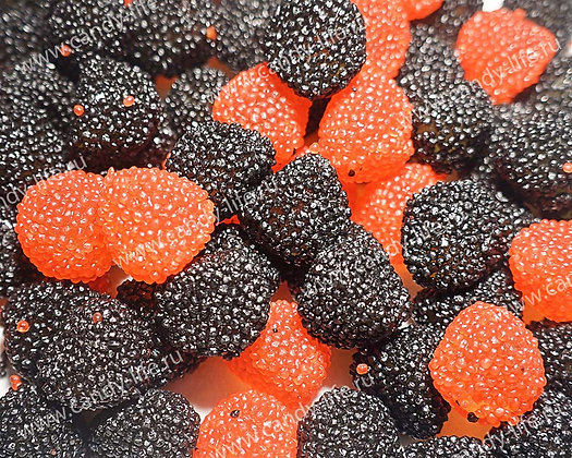 Красные и черные ягоды в обсыпке 1кг, FINI