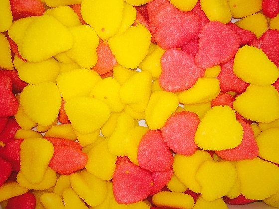 Сердечки в обсыпке роз/желт 1кг, FINI
