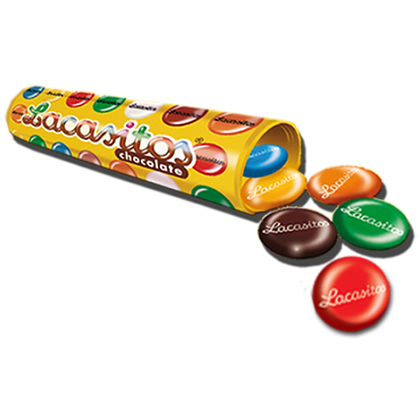 Драже разноцветное из молочного шоколада в прозр.тубе 225гр
