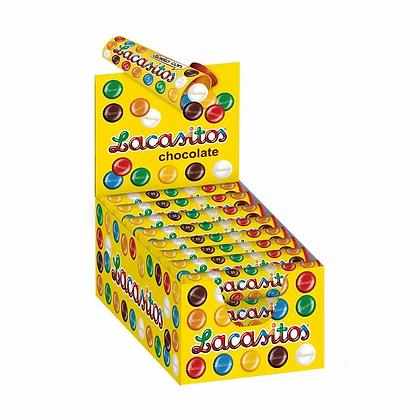 Драже разноцветное из молочного шоколада в тубе 20гр*24шт