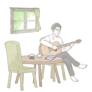 「君と本と僕とコーヒー」ジャケットイラスト