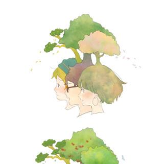 「森となる」コラボイラスト