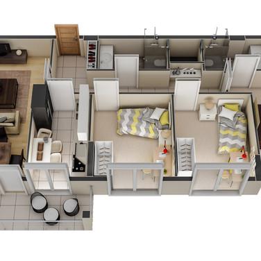 3 boyutlu daire planı