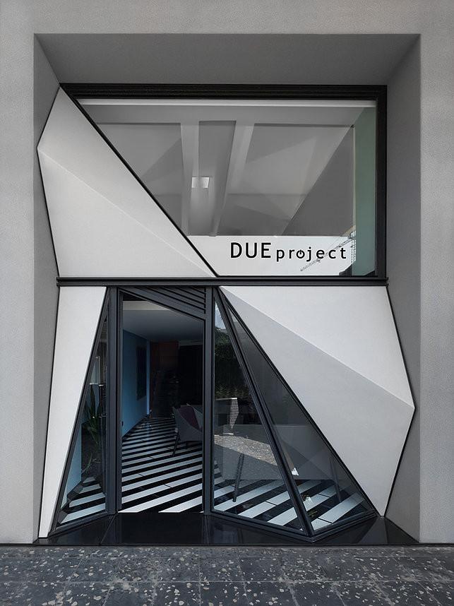 Due project mimarlık ofisinin dış cephesi