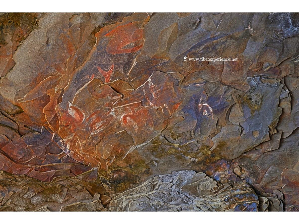 Фрески в пещере Ana Kai Tangata