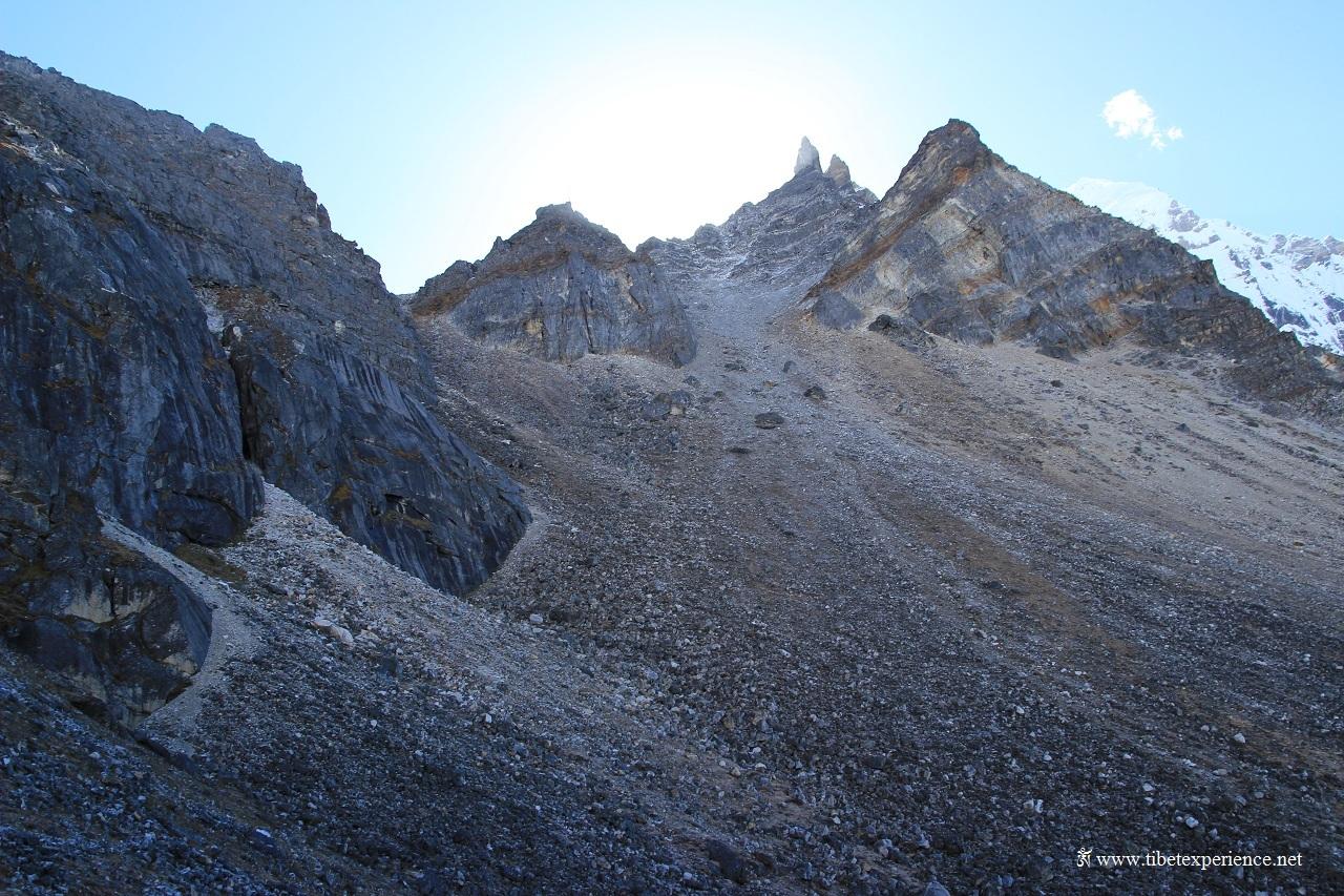 Сыпуха на пути г перевалу Гоэча