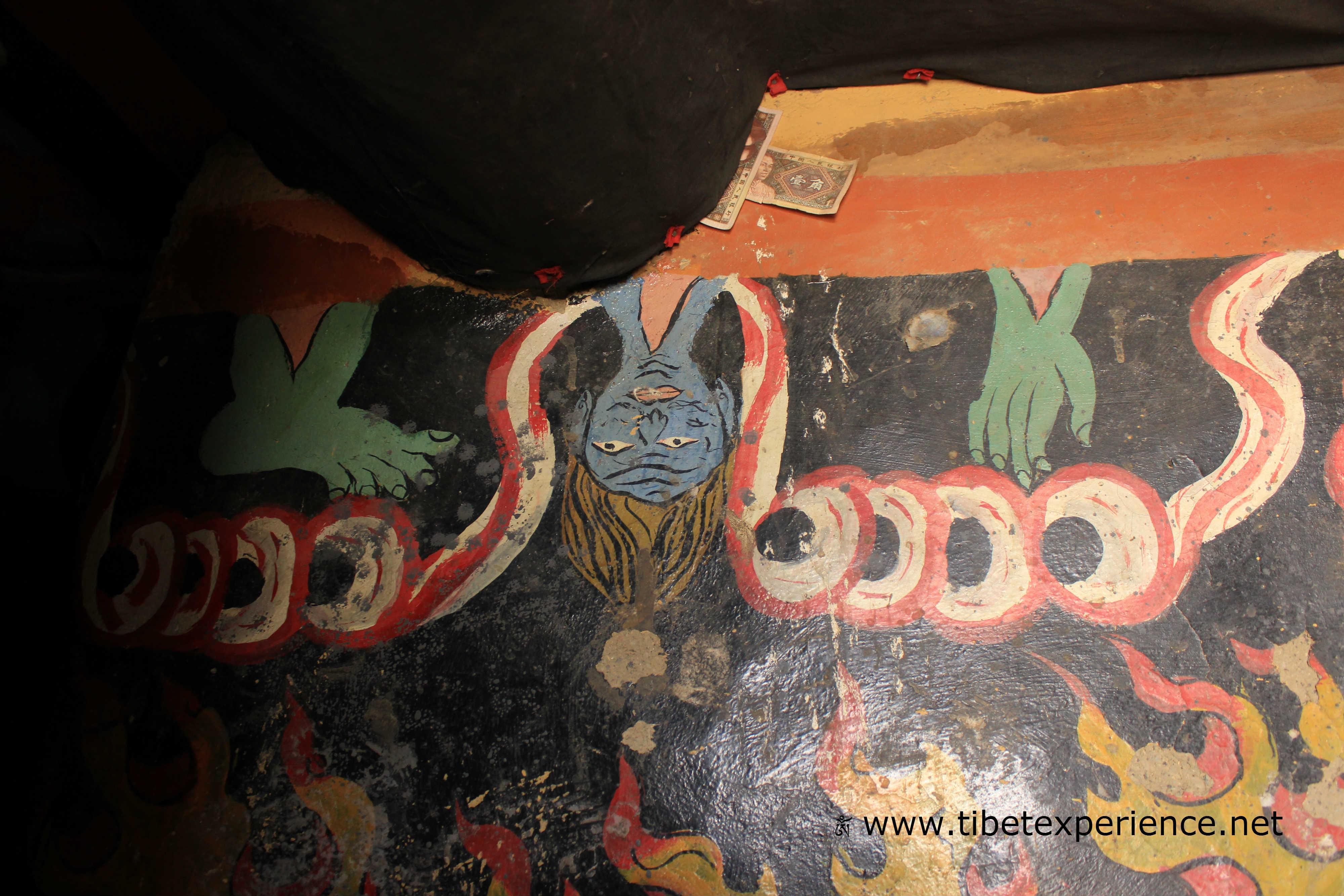 Тибет. Монастырь Сакья. Первая комната Дхармапал.jpg