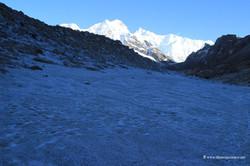 ледник Кабру, покрытый песком