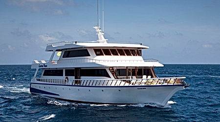 The Conte Max, a spacious, luxury liveaboard we have to offer in the Maldives