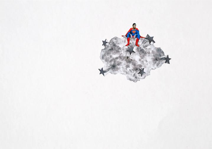 Collage sur carton plume 29,5x21 cm