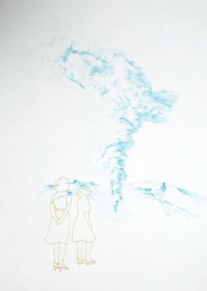 Crayon et posca 29,7x42 cm