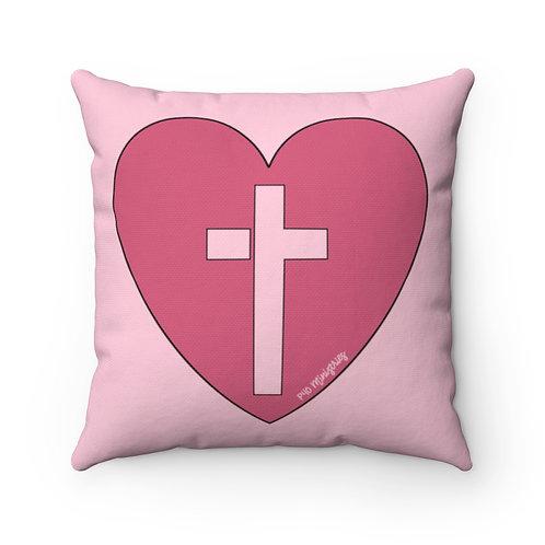 Heart of Worship 16x16 Decorative Pillow