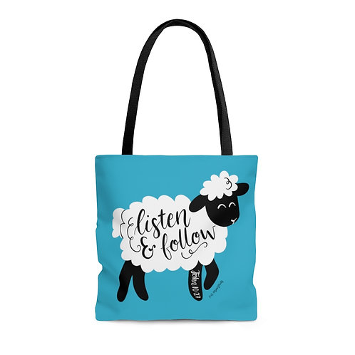 Listen and Follow Tote Bag