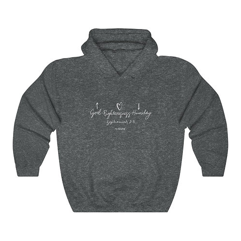 God, Righteousness, Humility Hoodie