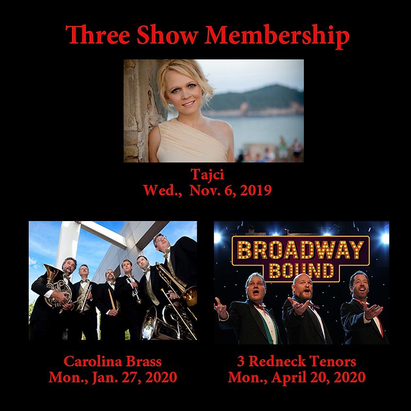 Three Shows: Tajci, Carolina Brass, 3 Redneck Tenors (1)