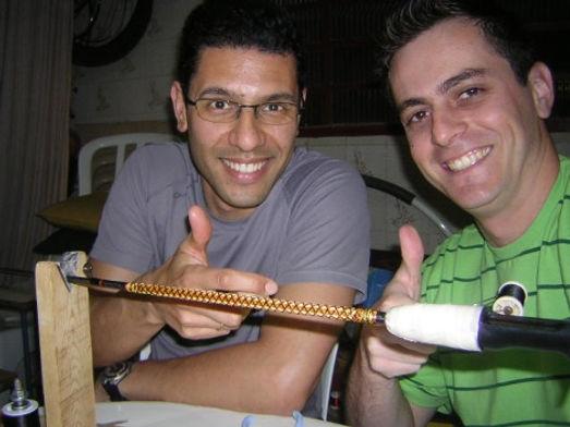 Os amigos e parceiros Rick Morais e Vitor Poiani