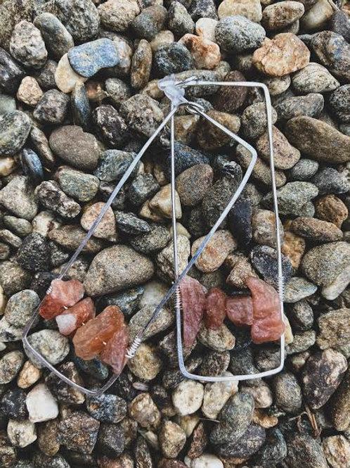 Sterling + Stone Rose Quartz Drops