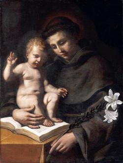 Guercino Sant' Antonio di Padova con il Bambino