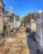 St Louis cemetery no.5 with Commander's Palace at far end.