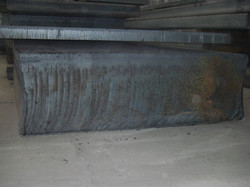 Heavy plate C45 rolled from ingot