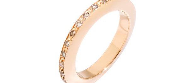 Anello disc con diamanti brown