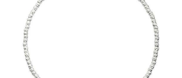 Girocollo granelli argento cm 40
