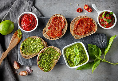 bread-slices-with-basil-pesto-and-garlic