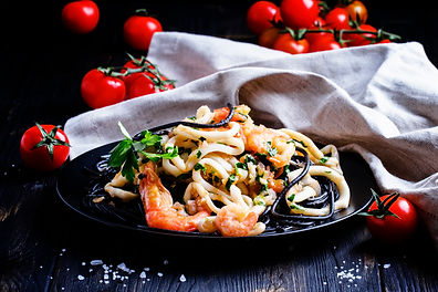 black-pasta-with-seafood-and-tomato-sauc