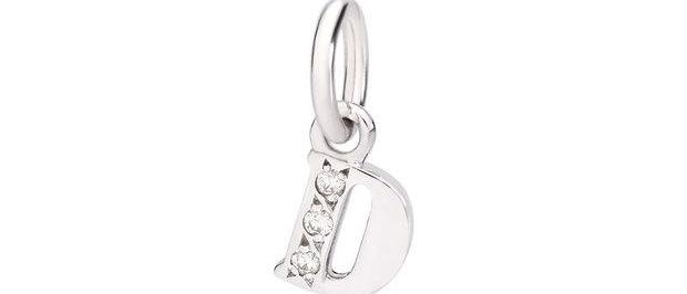 Lettera D con diamanti