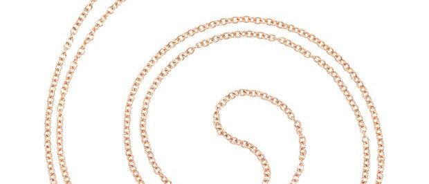 Collana in oro rosa cm 80