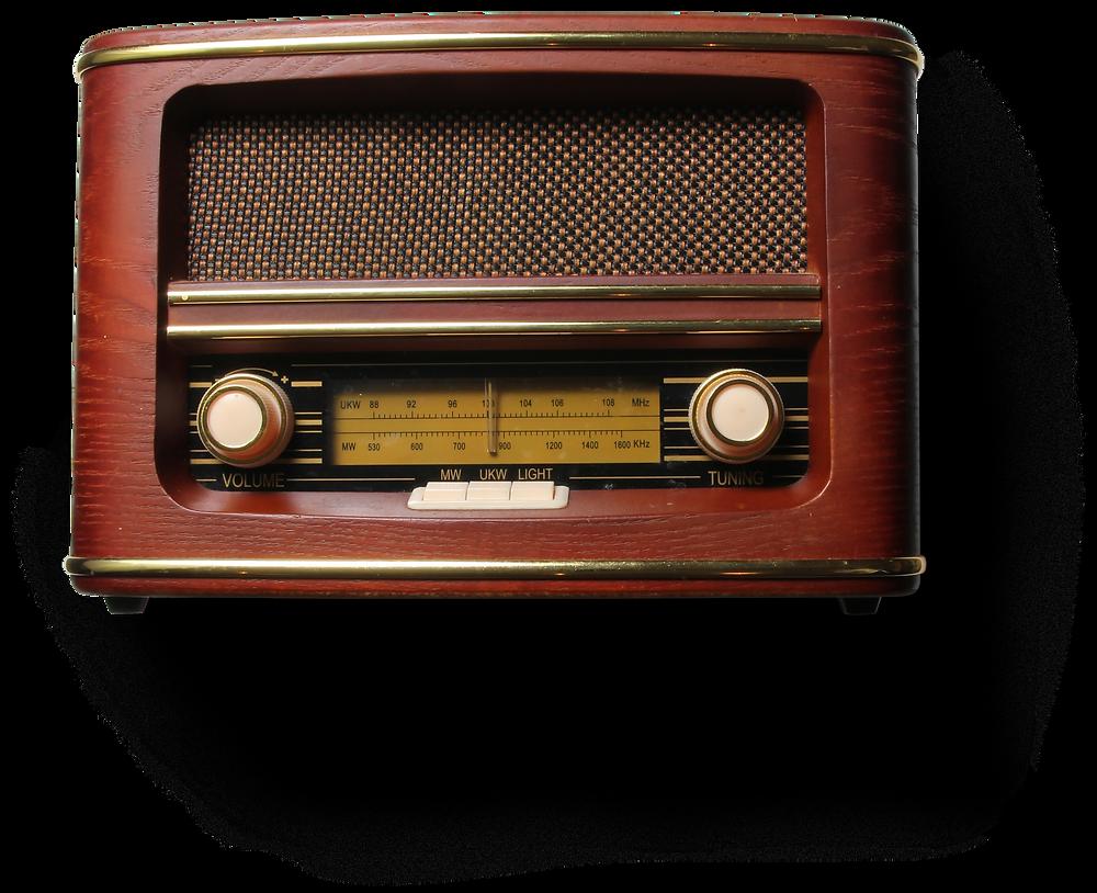 Radio antica degli anni 70.