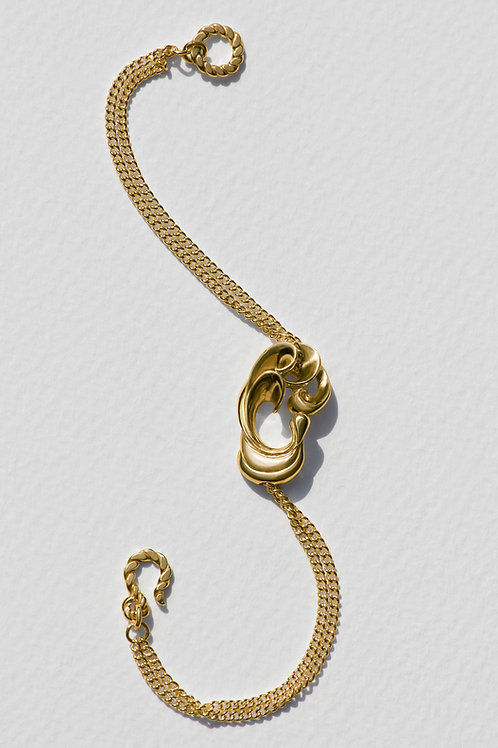 Pavo Bracelet with 18 carat gold plate