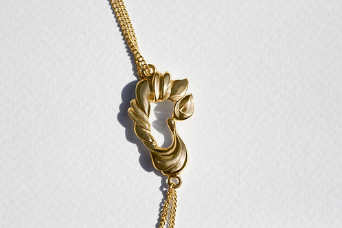 Pavo Necklace with 18 carat gold plate