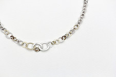 Silver and gold handmade chain