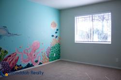 Custom Mural Painting in Bedroom Two