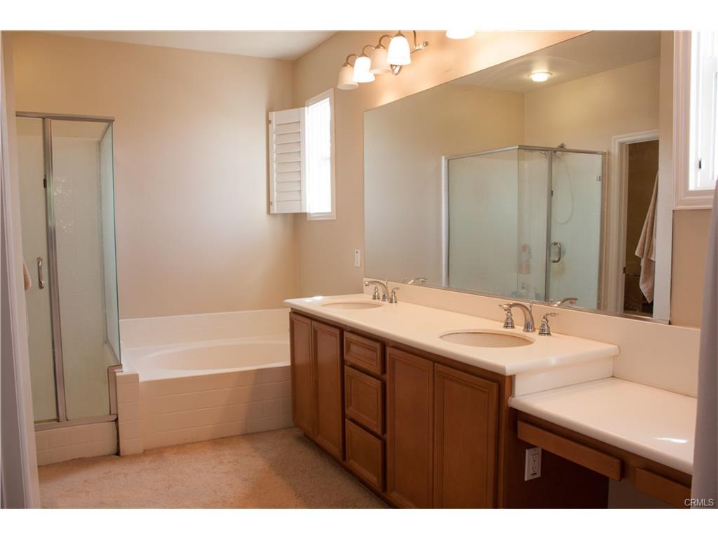 Separate Tub and Vanity Makeup Area