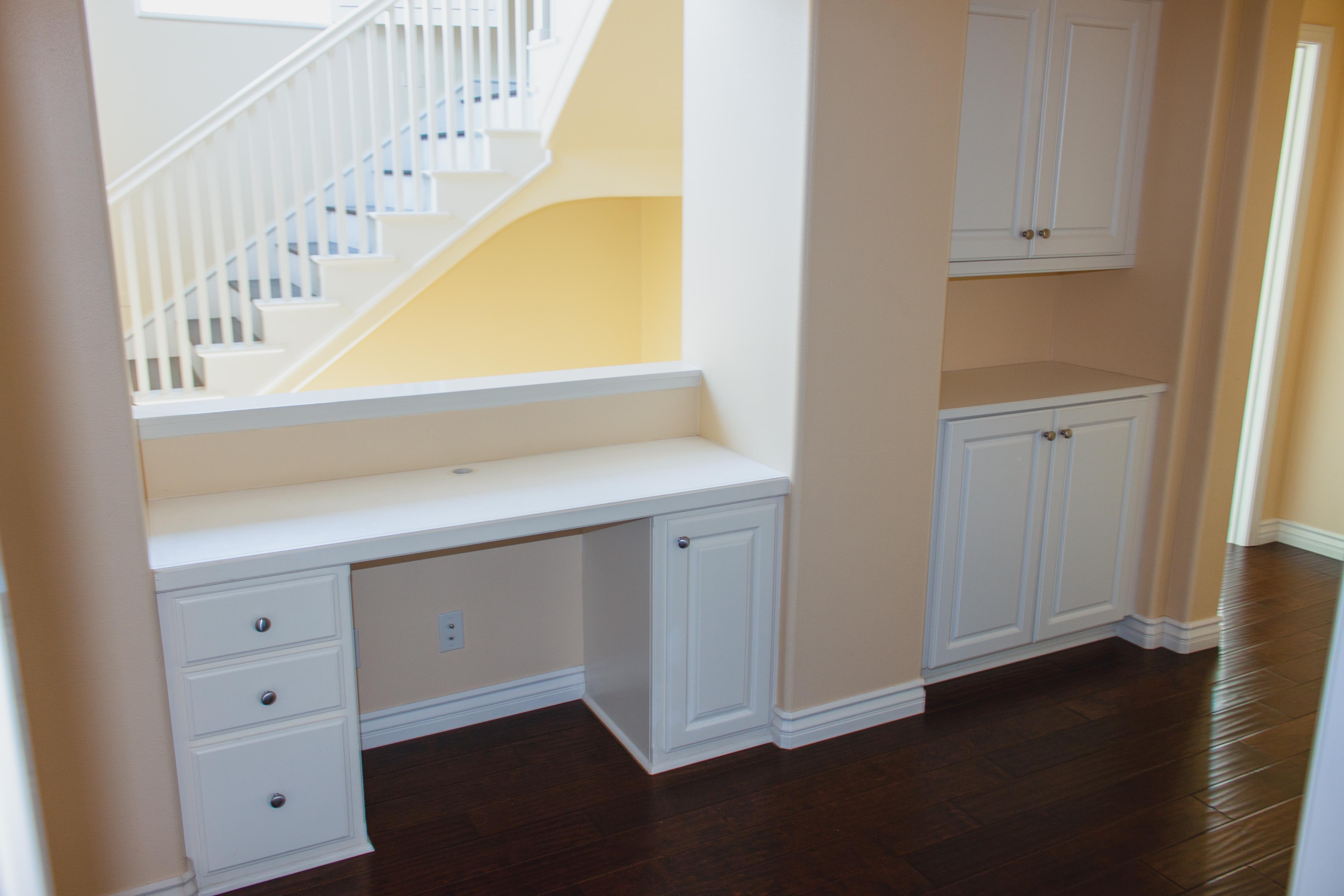 Custom Built-in Desk on 2nd Floor